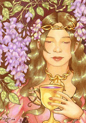 Art: Wisteria Wine by Artist Carmen Medlin