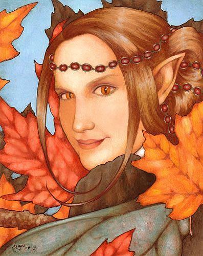 Art: Lady Autumn by Artist Carmen Medlin