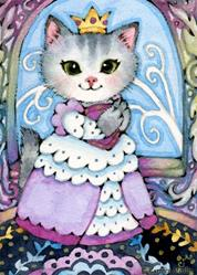 Art: Queen of the Castle ACEO by Artist Carmen Medlin
