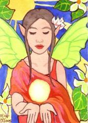 Art: Jungle Mystic ACEO by Artist Carmen Medlin