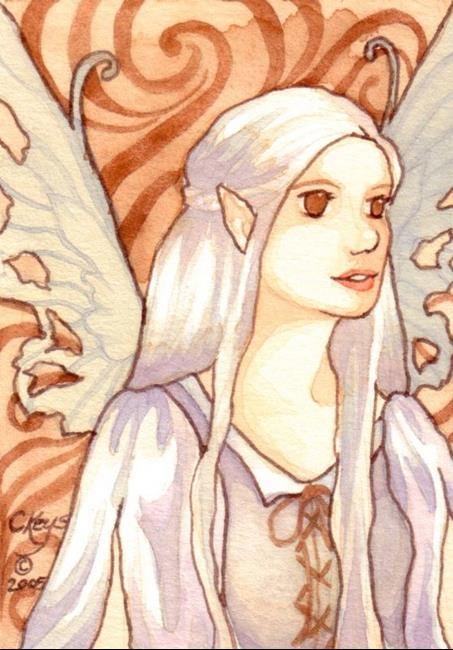 Art: Quicksilver ACEO by Artist Carmen Medlin