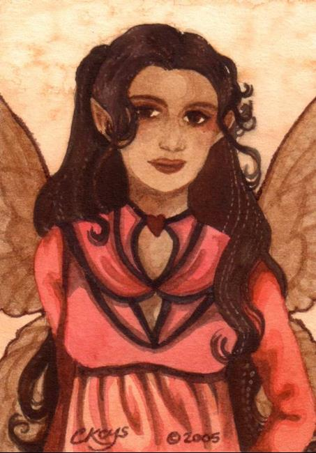 Art: Forget Me Not ACEO by Artist Carmen Medlin
