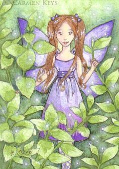 Art: Blue Belle ACEO by Artist Carmen Medlin