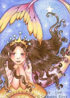 Art: Little Sea Princess ACEO by Artist Carmen Medlin