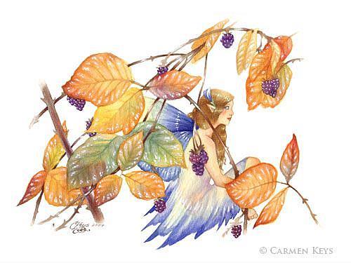 Art: Among Thorns by Artist Carmen Medlin