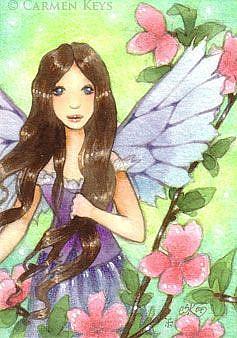 Art: Spring in My Tree - ACEO by Artist Carmen Medlin
