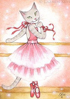 Art: Emmeline - ACEO by Artist Carmen Medlin