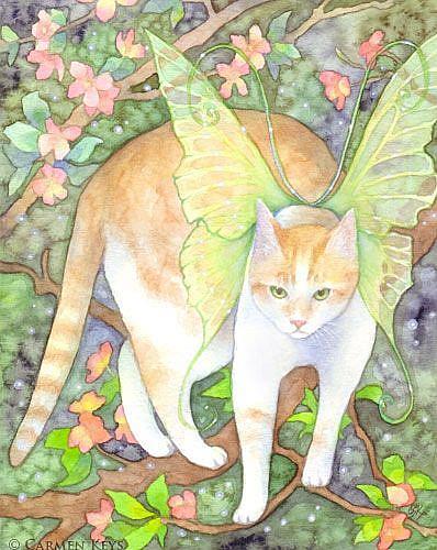 Art: Tree Tiger by Artist Carmen Medlin