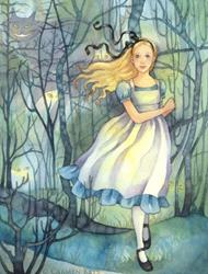 Art: Alice in the Tulgey Wood by Artist Carmen Medlin