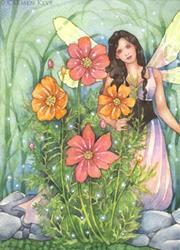 Art: Cosmos Fairy by Artist Carmen Medlin