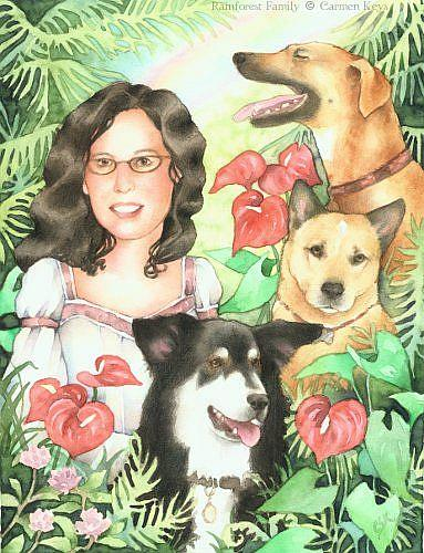 Art: Rainforest Family by Artist Carmen Medlin
