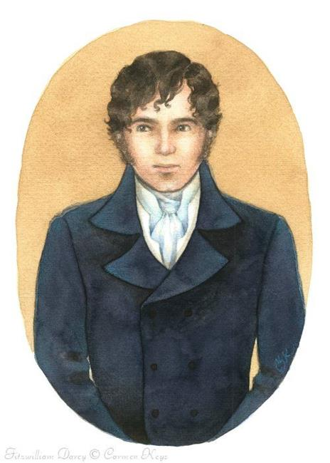 Art: Fitzwilliam Darcy by Artist Carmen Medlin