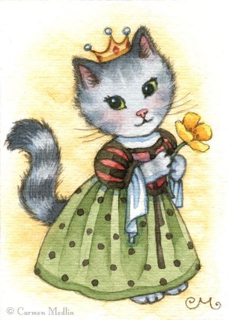 Art: Princess Poppy ACEO by Artist Carmen Medlin