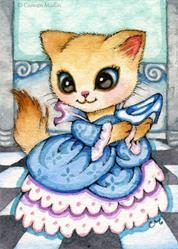 Art: Cinderella's Slipper ACEO by Artist Carmen Medlin