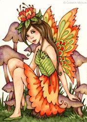 Art: Fiery Wings by Artist Carmen Medlin