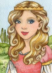 Art: Princess Aurora ACEO by Artist Carmen Medlin
