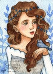 Art: Princess Bluebird ACEO by Artist Carmen Medlin