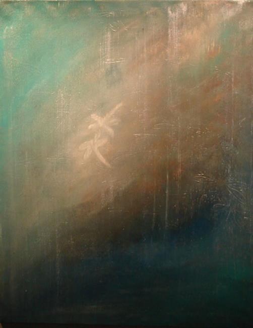 Art: Courting A Dragonfly by Artist Rebecca M Ronesi-Gutierrez