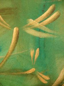 Detail Image for art Lucky Green Dragonflies