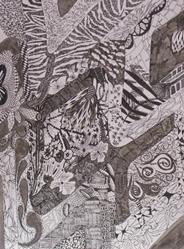 Art: Dragonfly Wall 2008 by Artist Rebecca M Ronesi-Gutierrez