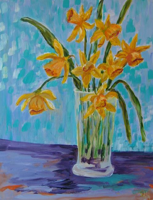 Art: Daffodils-sold by Artist Delilah Smith