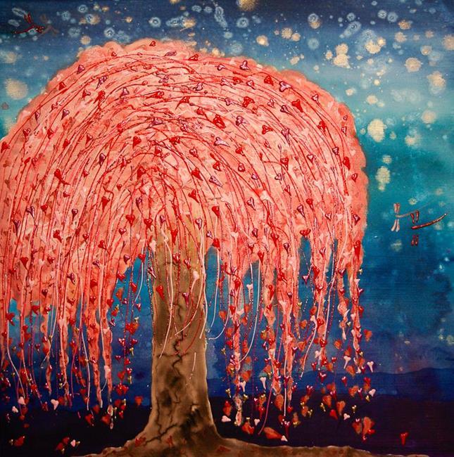 Art: Willow Heart Tree by Artist Rebecca M Ronesi-Gutierrez