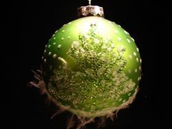 Art: 2007 Fuzzy Green Dragonfly Ball by Rebecca M Ronesi-Gutierrez