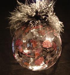"Art: 2007 ""Deep Copper Diva Leopard Dragonfly Ball by Artist Rebecca M Ronesi-Gutierrez"