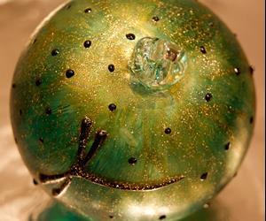 Detail Image for art #10 Green Polka Dot Dragonfly Ball 2011