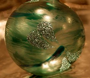 Detail Image for art #7 Frosted Green Dragonfly Ball 2011