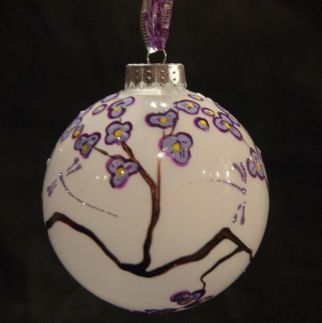 Art: 2010 Dragonfly Ball- 2 - Lavender by Artist Rebecca M Ronesi-Gutierrez