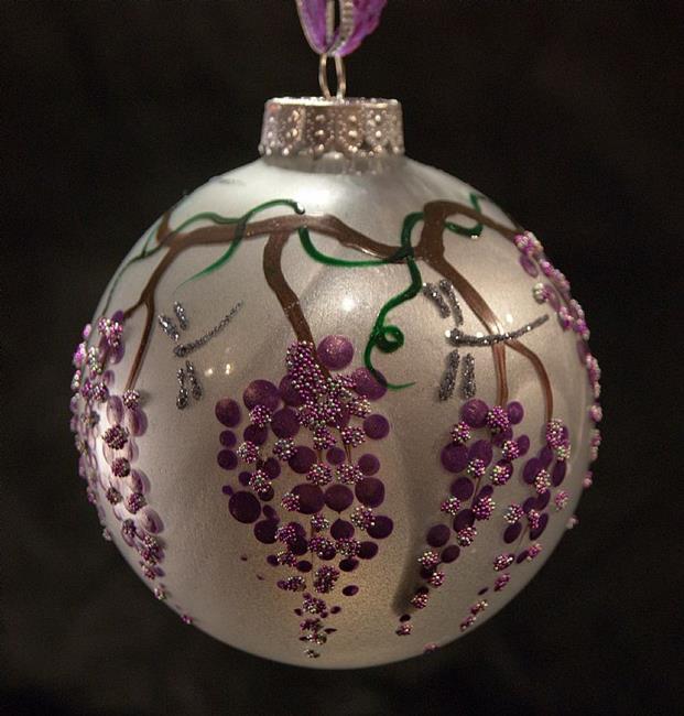 Art: 2010 Dragonfly Ball - Grapes - 12 by Artist Rebecca M Ronesi-Gutierrez