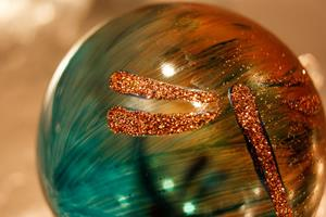 Detail Image for art #12 Amber Teal Dragonfly Ball 2011