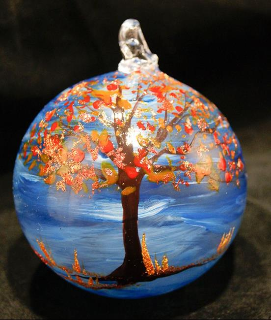 Art: #18 Autumn Tree Dragonfly Ball 2011 by Artist Rebecca M Ronesi-Gutierrez