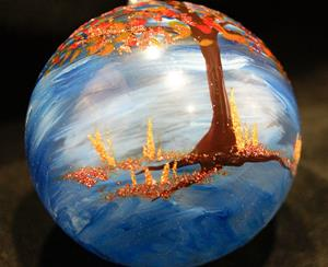 Detail Image for art #18 Autumn Tree Dragonfly Ball 2011