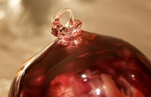 Detail Image for art #11 Burgundy Red Frost Dragonfly Ball 2011