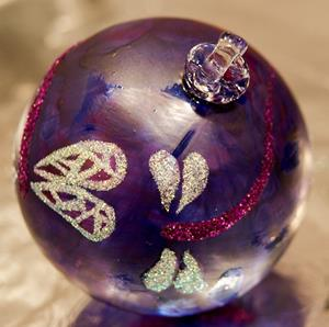 Detail Image for art #9 Frosted Purple Dragonfly Ball 2011