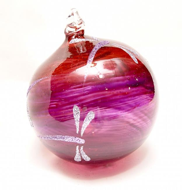 Art: 2012 Dragonfly Ball Warm Purple # 2 of 24 by Artist Rebecca M Ronesi-Gutierrez