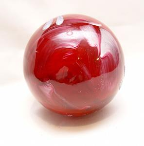 Detail Image for art 2012 Dragonfly Ball Red Marble # 10