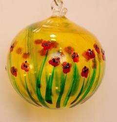 Art: #3 Liquid Poppies Dragonfly Ball 2011 by Artist Rebecca M Ronesi-Gutierrez