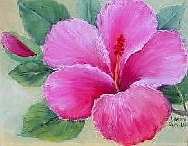 Art: Hibiscus//SOLD by Artist Barbara Haviland