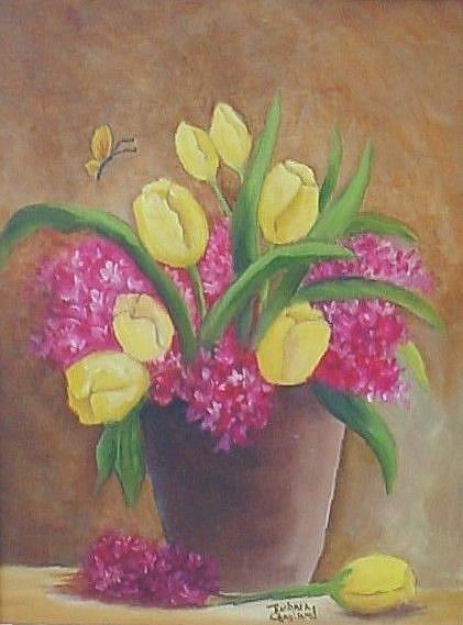 Art: Tulips//SOLD by Artist Barbara Haviland