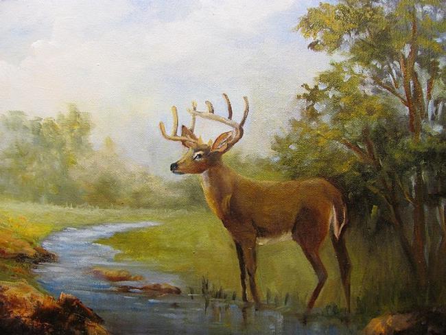 Art: White Tail Deer  Ranch #9  SOLD by Artist Barbara Haviland