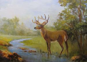 Detail Image for art White Tail Deer  Ranch #9  SOLD