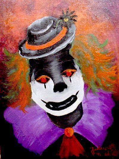Art: Spooky the Clown//SOLD by Artist Barbara Haviland