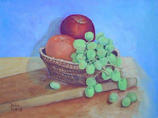 Art: Fruit on a Table//SOLD by Artist Barbara Haviland
