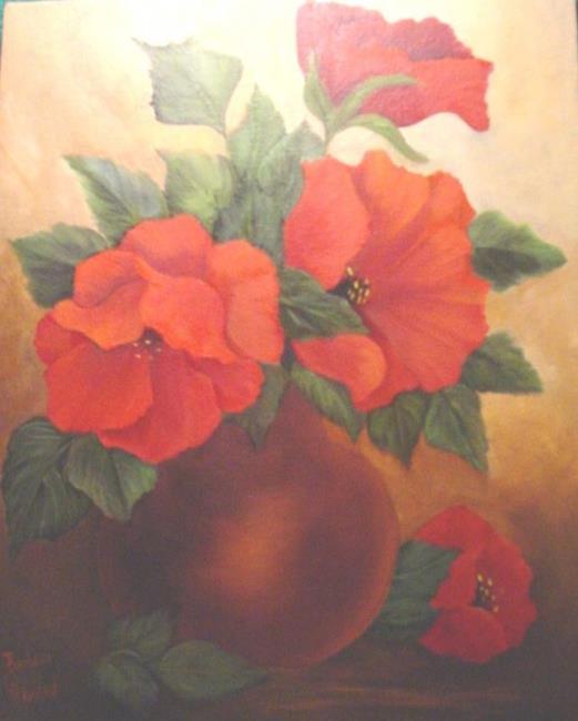 Art: Vase of Poppies //SOLD by Artist Barbara Haviland