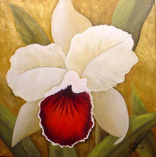 Art: Golden Orchid  // SOLD by Artist Barbara Haviland