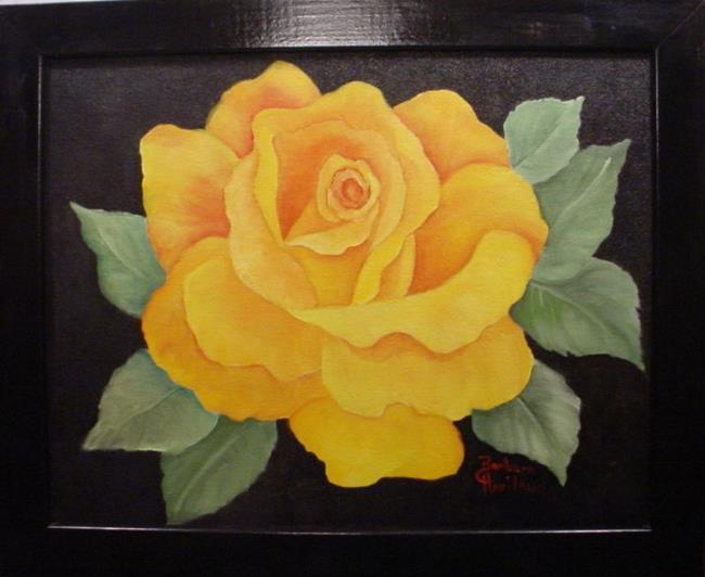 Art: Yellow Rose //SOLD by Artist Barbara Haviland