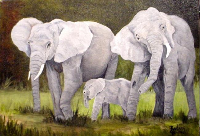 Art: Elephants  //SOLD by Artist Barbara Haviland